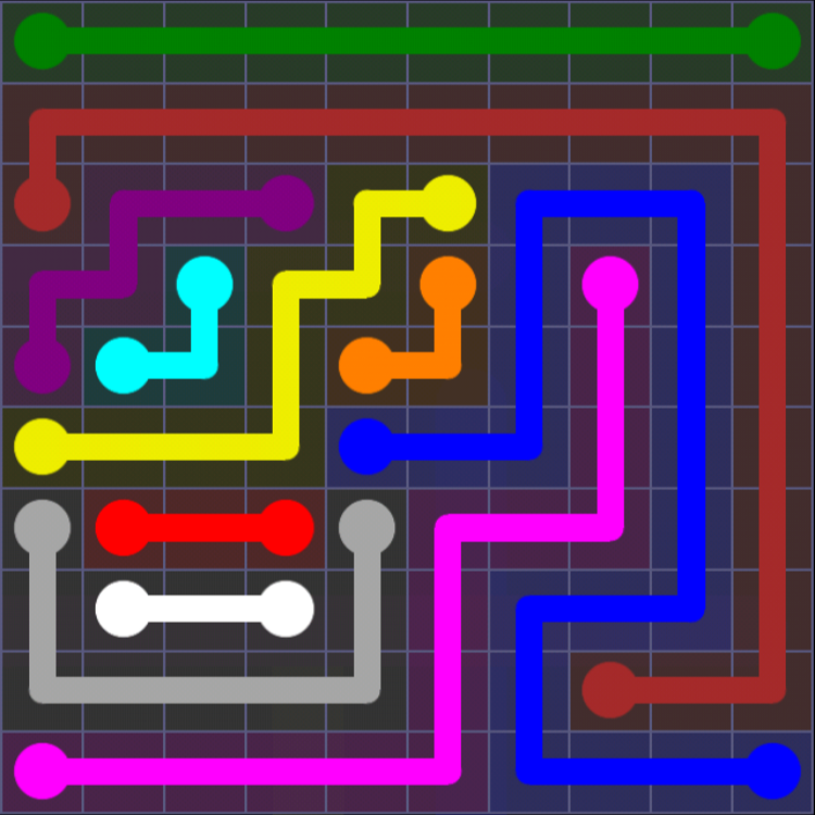 Flow Free - 10x10 Mania - Levels 1-30 - Level 14 / Puzzle Game App Solutions / Give Me The Answer