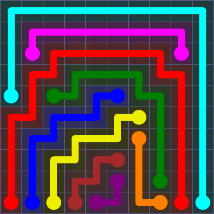 Flow Free - 10x10 Mania - Levels 1-30 - Level 15 / Puzzle Game App Solutions / Give Me The Answer