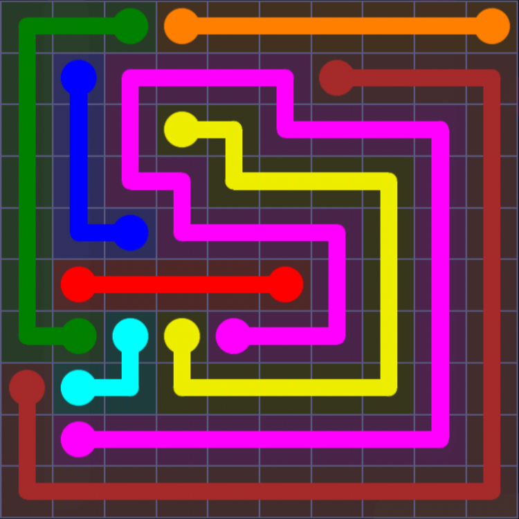 Flow Free - 10x10 Mania - Levels 1-30 - Level 19 / Puzzle Game App Solutions / Give Me The Answer
