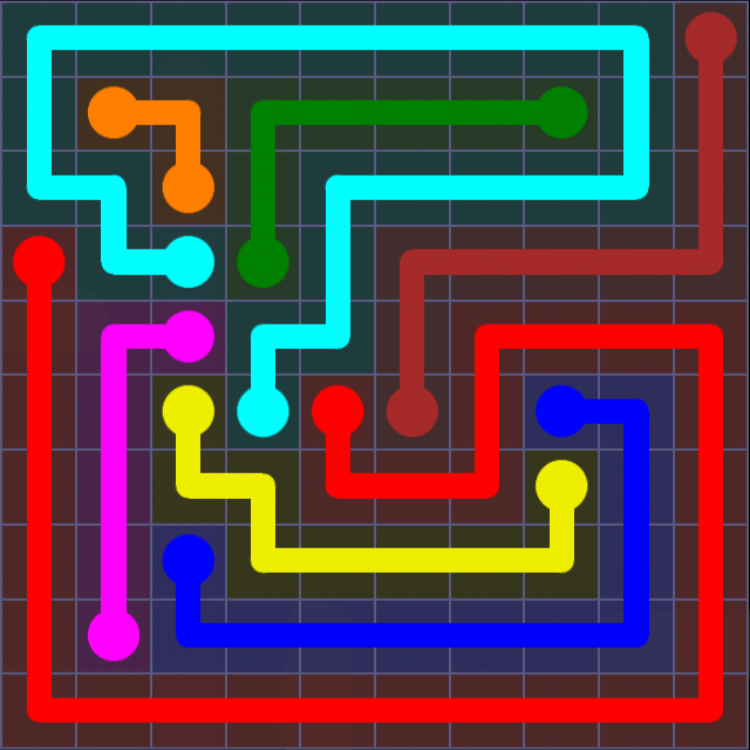 Flow Free - 10x10 Mania - Levels 1-30 - Level 23 / Puzzle Game App Solutions / Give Me The Answer