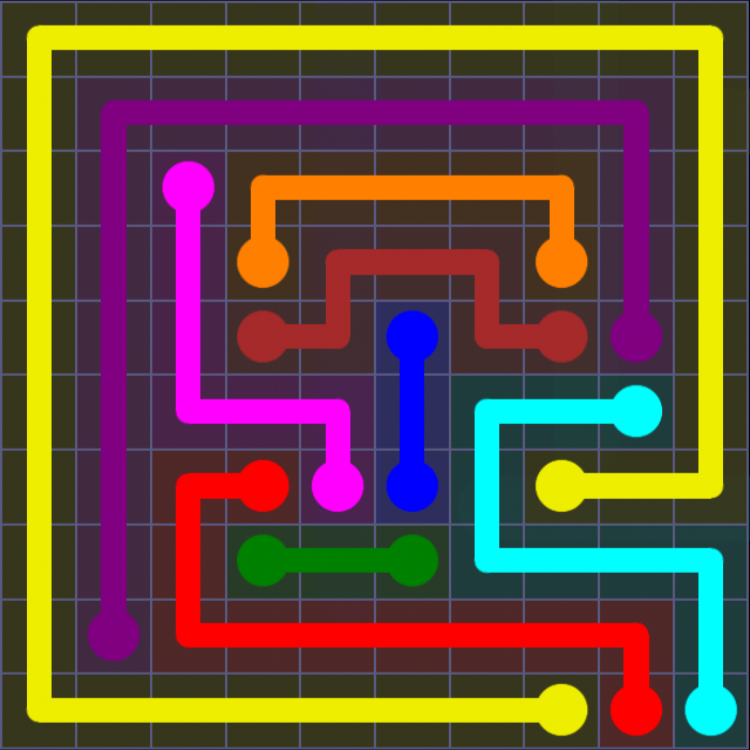 Flow Free - 10x10 Mania - Levels 121-150 - Level 143 / Puzzle Game App Solutions / Give Me The Answer