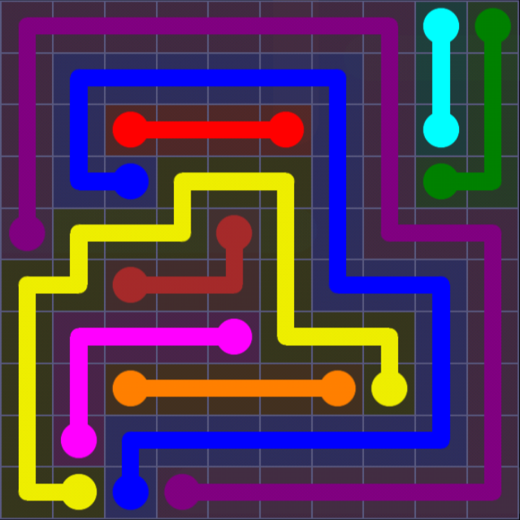 Flow Free - 10x10 Mania - Levels 31-60 - Level 40 / Puzzle Game App Solutions / Give Me The Answer