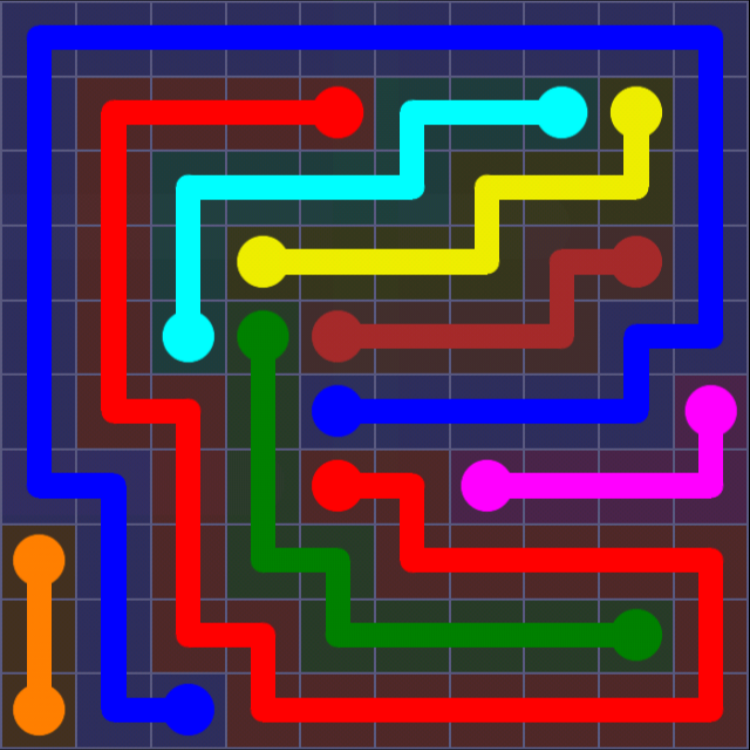 Flow Free - 10x10 Mania - Levels 31-60 - Level 47 / Puzzle Game App Solutions / Give Me The Answer