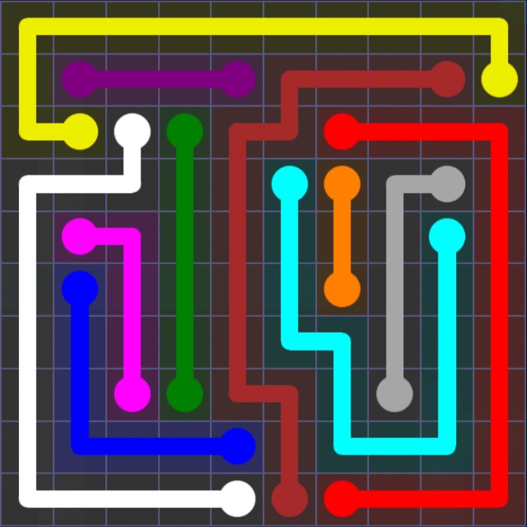Flow Free - 10x10 Mania - Levels 31-60 - Level 56 / Puzzle Game App Solutions / Give Me The Answer