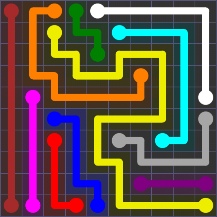 Flow Free - 10x10 Mania - Levels 31-60 - Level 60 / Puzzle Game App Solutions / Give Me The Answer