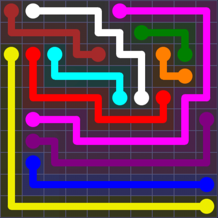 Flow Free - 10x10 Mania - Levels 61-90 - Level 75 / Puzzle Game App Solutions / Give Me The Answer