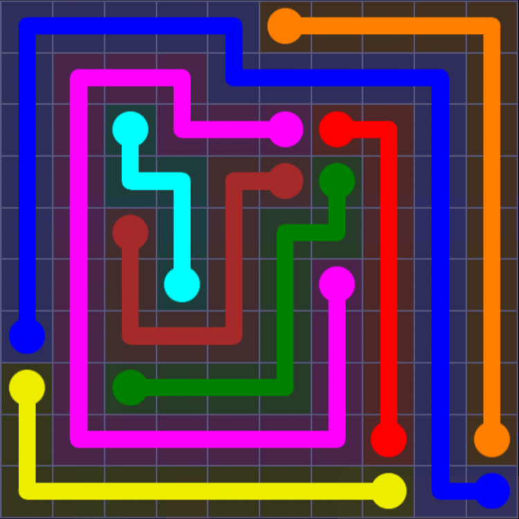 Flow Free - 10x10 Mania - Levels 91-120 - Level 95 / Puzzle Game App Solutions / Give Me The Answer