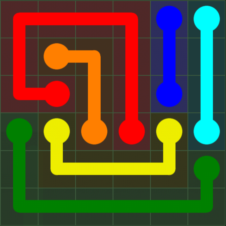 Flow Free - 6x6 Mania - Levels 1-30 - Level 17 / Puzzle Game App Solutions / Give Me The Answer