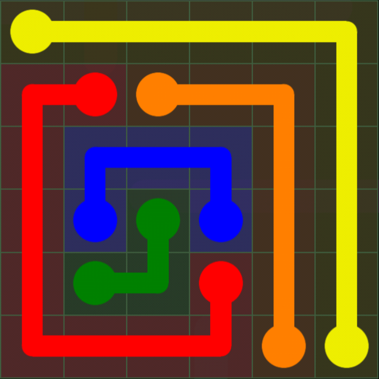 Flow Free - 6x6 Mania - Levels 121-150 - Level 124 / Puzzle Game App Solutions / Give Me The Answer