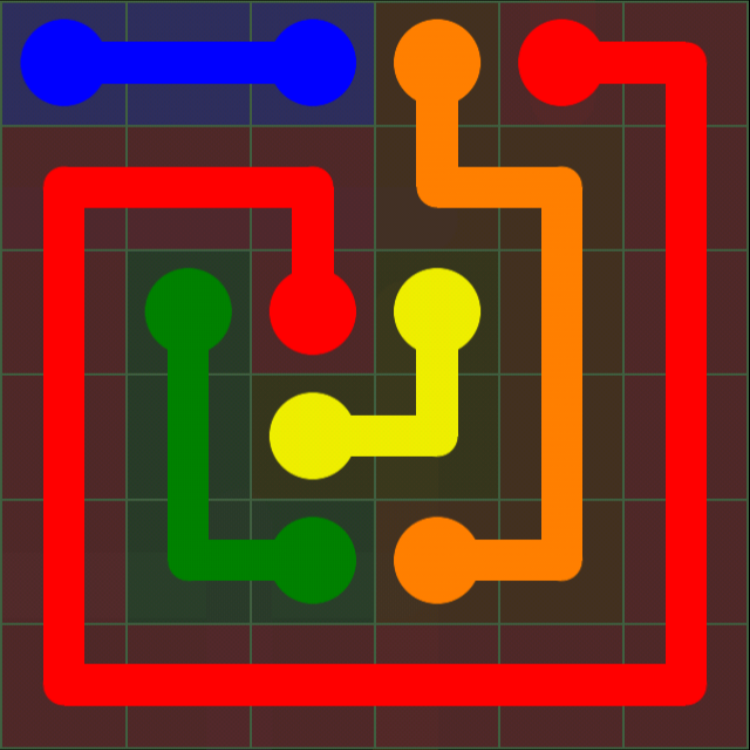 Flow Free - 6x6 Mania - Levels 121-150 - Level 139 / Puzzle Game App Solutions / Give Me The Answer