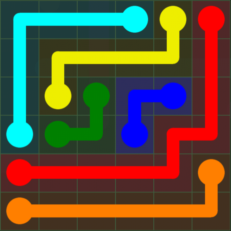 Flow Free - 6x6 Mania - Levels 31-60 - Level 31 / Puzzle Game App Solutions / Give Me The Answer