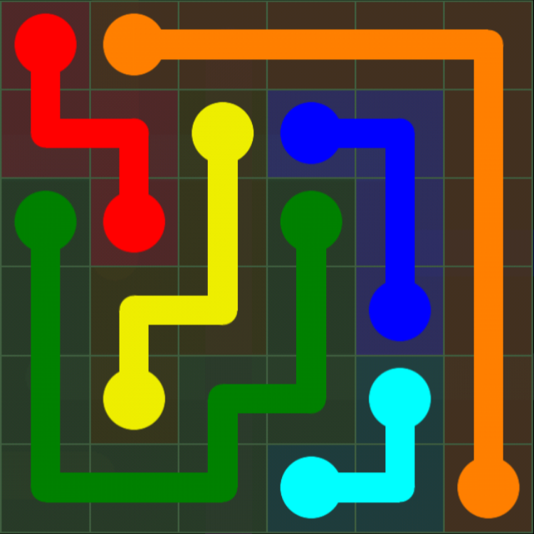 Flow Free - 6x6 Mania - Levels 31-60 - Level 32 / Puzzle Game App Solutions / Give Me The Answer