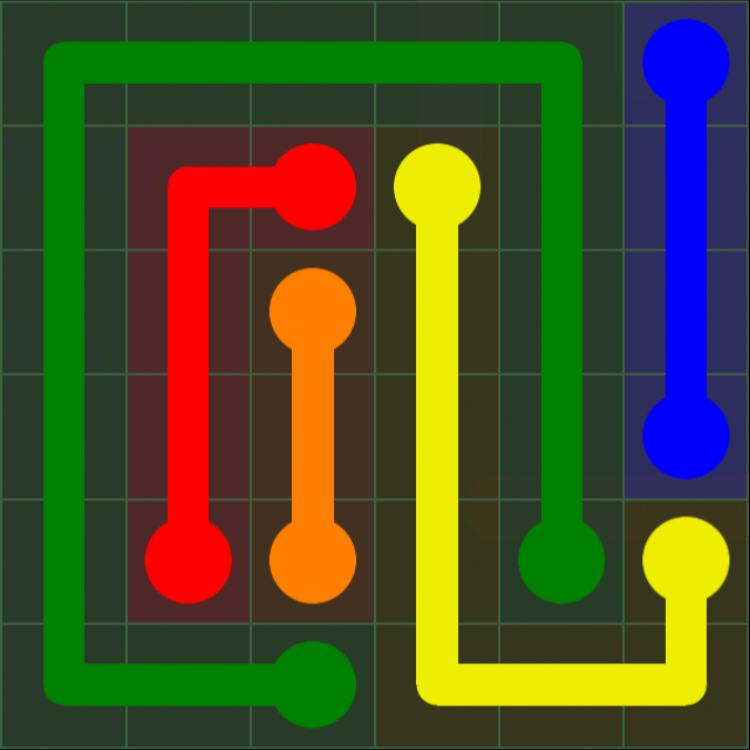 Flow Free - 6x6 Mania - Levels 31-60 - Level 37 / Puzzle Game App Solutions / Give Me The Answer