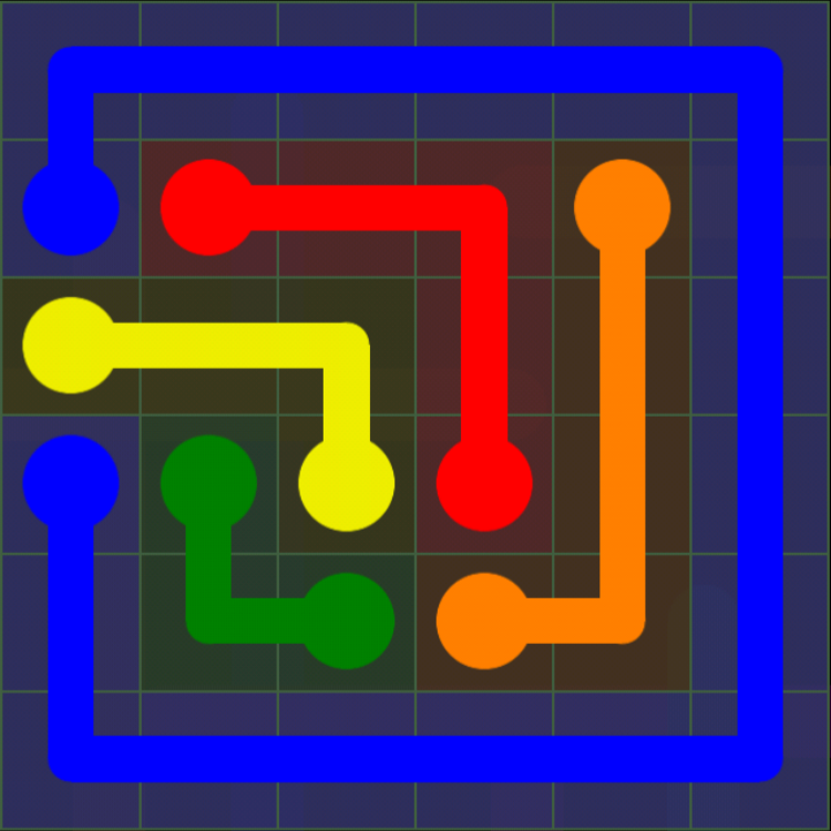 Flow Free - 6x6 Mania - Levels 31-60 - Level 58 / Puzzle Game App Solutions / Give Me The Answer