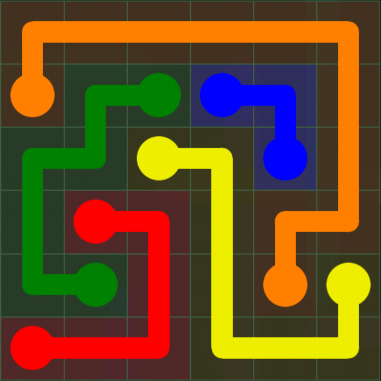 Flow Free - 6x6 Mania - Levels 31-60 - Level 60 / Puzzle Game App Solutions / Give Me The Answer