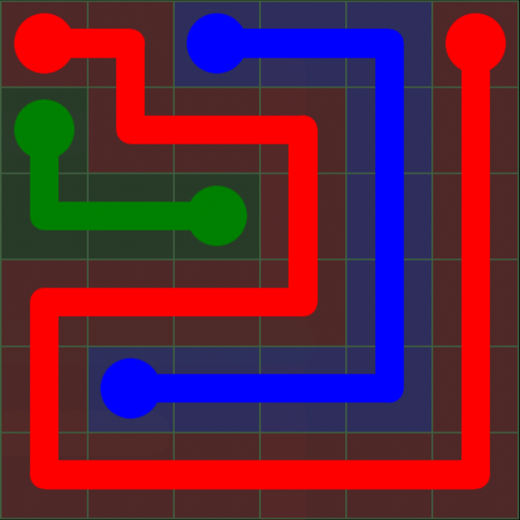 Flow Free - 6x6 Mania - Levels 61-90 - Level 65 / Puzzle Game App Solutions / Give Me The Answer