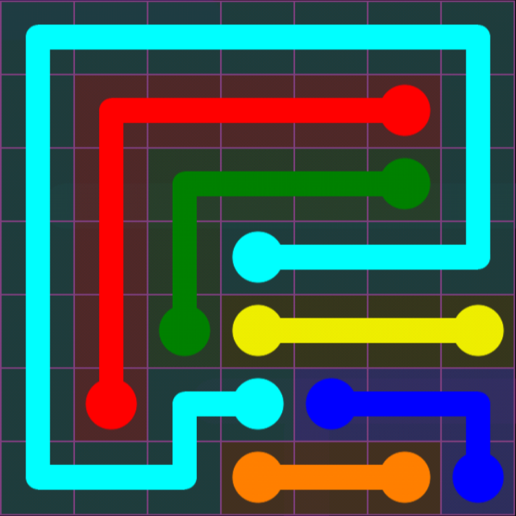 Flow Free - 7x7 Mania - Levels 1-30 - Level 11 / Puzzle Game App Solutions / Give Me The Answer