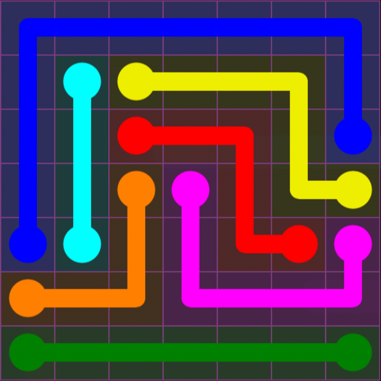 Flow Free - 7x7 Mania - Levels 1-30 - Level 12 / Puzzle Game App Solutions / Give Me The Answer