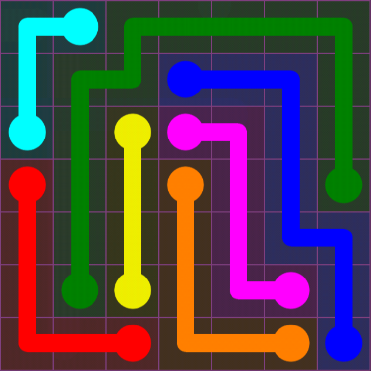 Flow Free - 7x7 Mania - Levels 91-120 - Level 110 / Puzzle Game App Solutions / Give Me The Answer