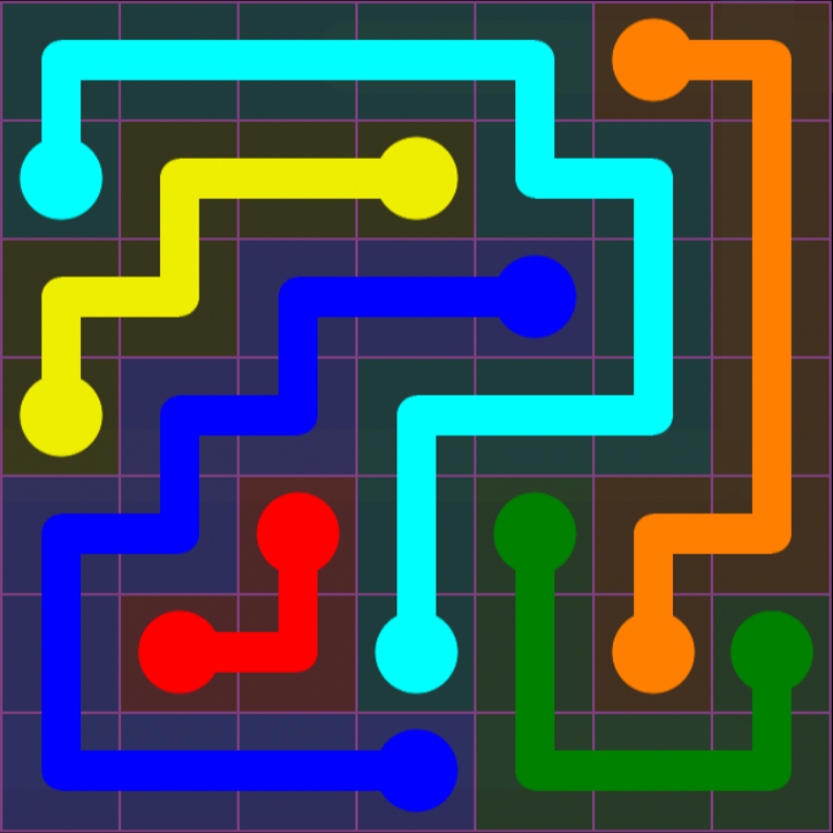 Flow Free - 7x7 Mania - Levels 91-120 - Level 113 / Puzzle Game App Solutions / Give Me The Answer
