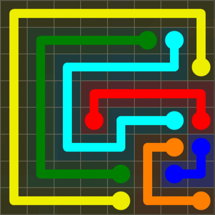 Flow Free - 8x8 Mania - Levels 121-150 - Level 133 / Puzzle Game App Solutions / Give Me The Answer