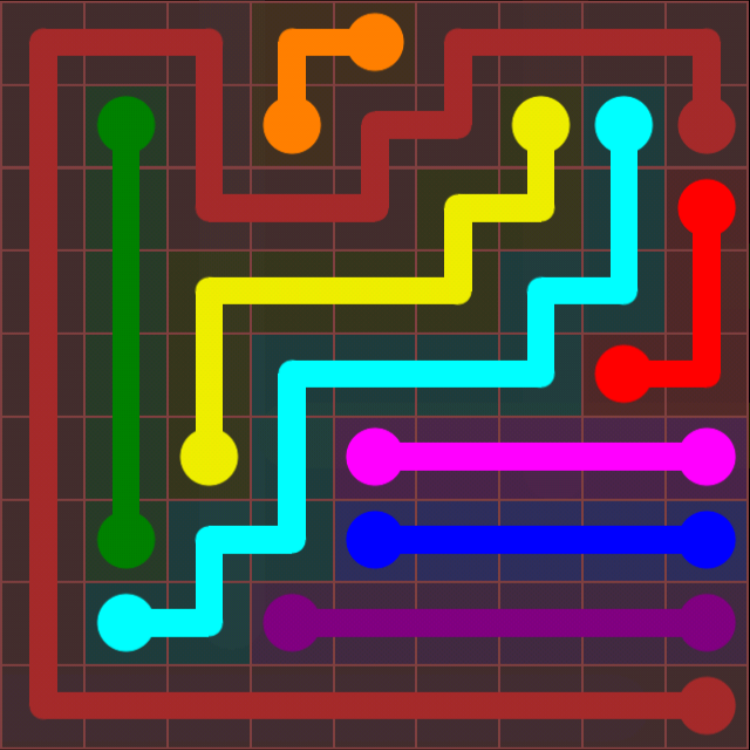 Flow Free - 9x9 Mania - Levels 1-30 - Level 24 / Puzzle Game App Solutions / Give Me The Answer