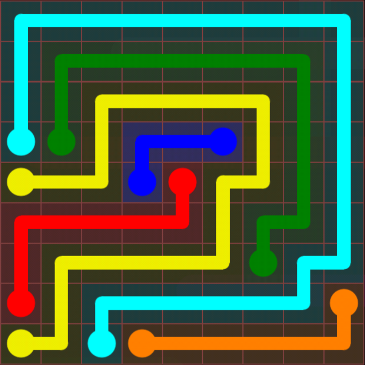 Flow Free - 9x9 Mania - Levels 31-60 - Level 57 / Puzzle Game App Solutions / Give Me The Answer