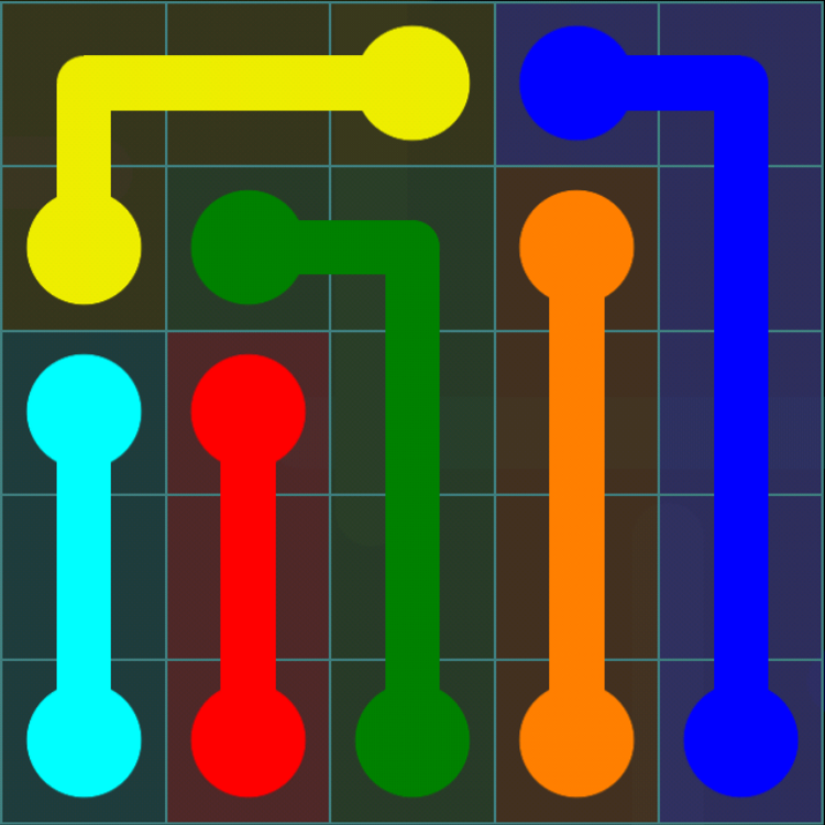 Flow Free - Blue Pack - 5x5 Easy - Level 11 / Puzzle Game App Solutions / Give Me The Answer