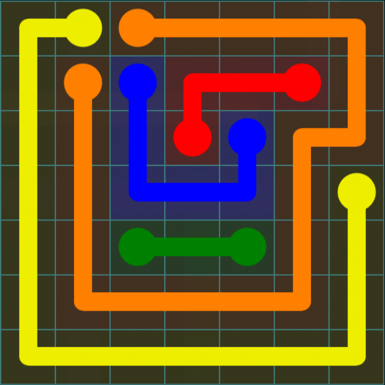 Flow Free - Blue Pack - 7x7 Medium - Level 6 / Puzzle Game App Solutions / Give Me The Answer
