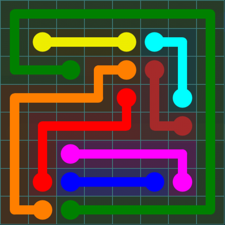 Flow Free - Blue Pack - 8x8 - Level 11 / Puzzle Game App Solutions / Give Me The Answer