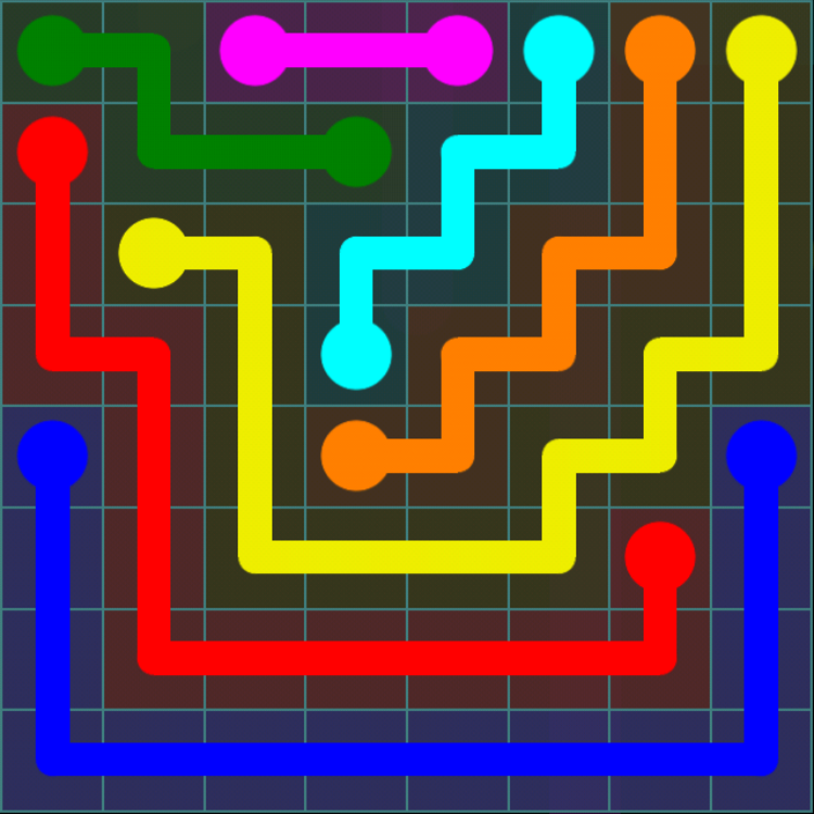 Flow Free - Blue Pack - 8x8 - Level 13 / Puzzle Game App Solutions / Give Me The Answer