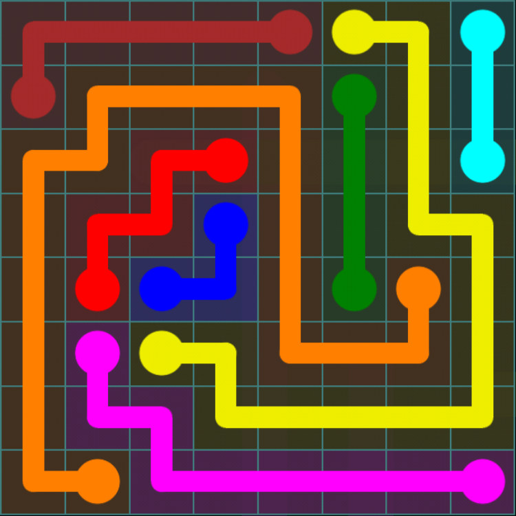 Flow Free - Blue Pack - 8x8 - Level 14 / Puzzle Game App Solutions / Give Me The Answer