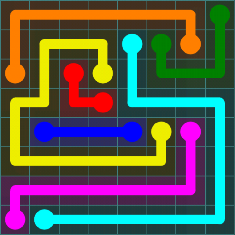 Flow Free - Blue Pack - 8x8 - Level 2 / Puzzle Game App Solutions / Give Me The Answer