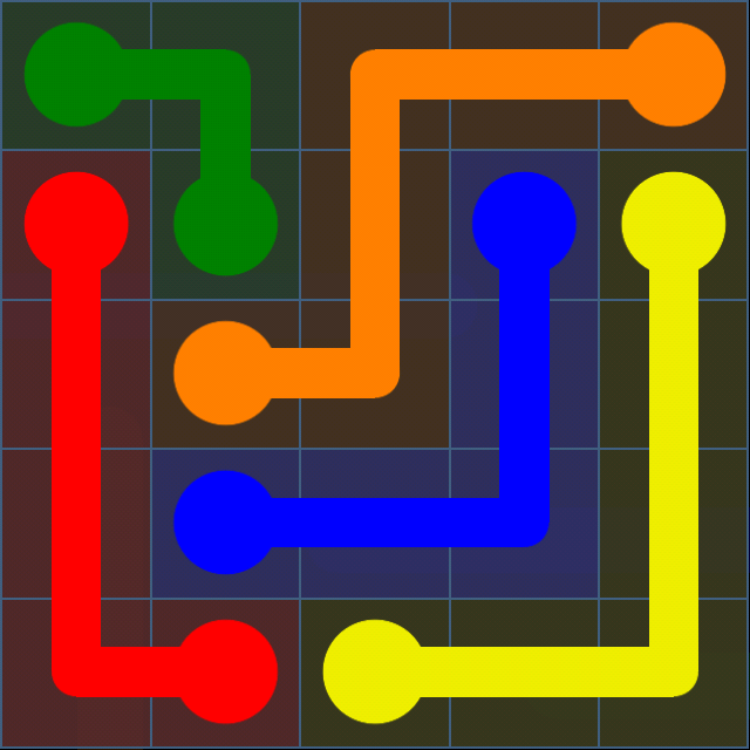 Flow Free - Bonus Pack - 5x5 Easy - Level 17 / Puzzle Game App Solutions / Give Me The Answer
