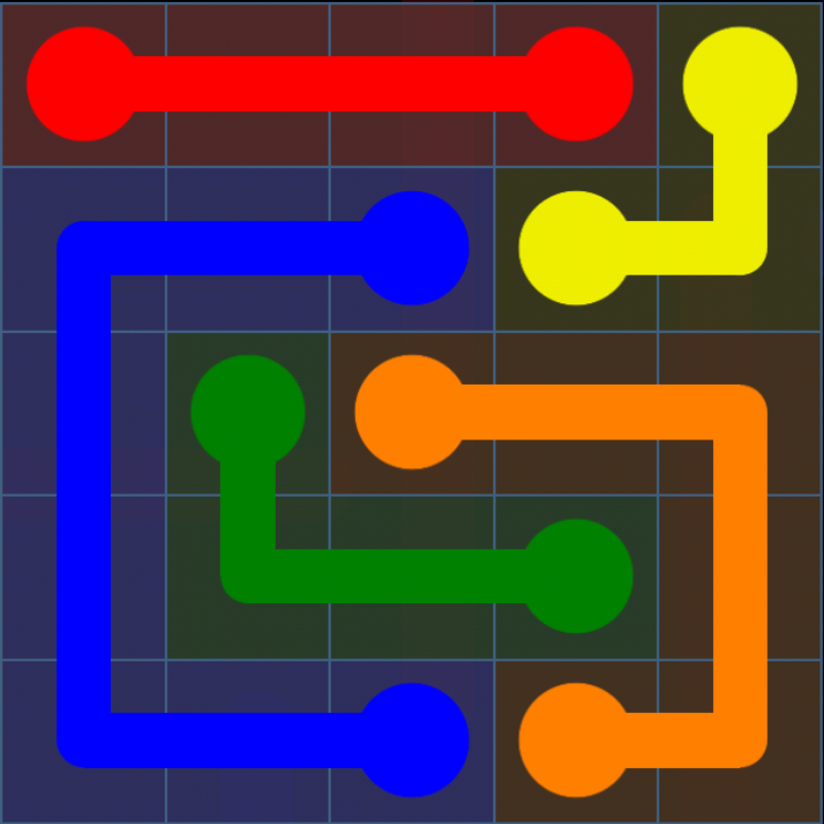 Flow Free - Bonus Pack - 5x5 Easy - Level 26 / Puzzle Game App Solutions / Give Me The Answer
