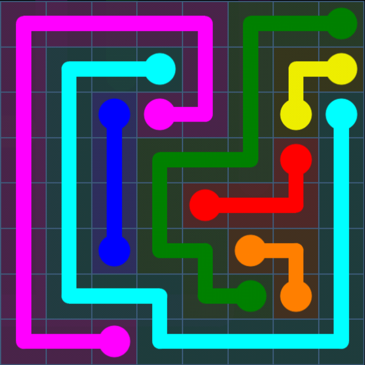 Flow Free - Bonus Pack - 8x8 - Level 23 / Puzzle Game App Solutions / Give Me The Answer