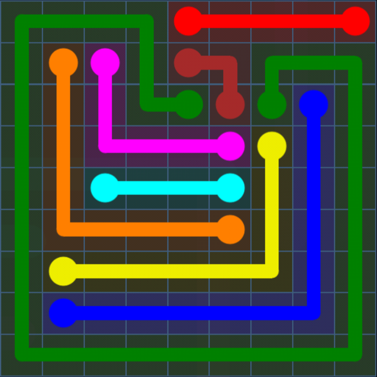 Flow Free - Bonus Pack - 9x9 Hard - Level 14 / Puzzle Game App Solutions / Give Me The Answer