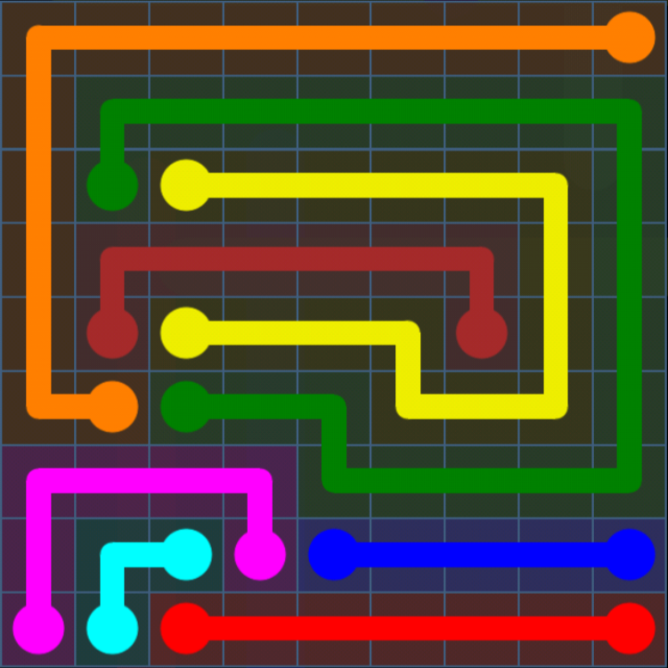 Flow Free - Bonus Pack - 9x9 Hard - Level 19 / Puzzle Game App Solutions / Give Me The Answer