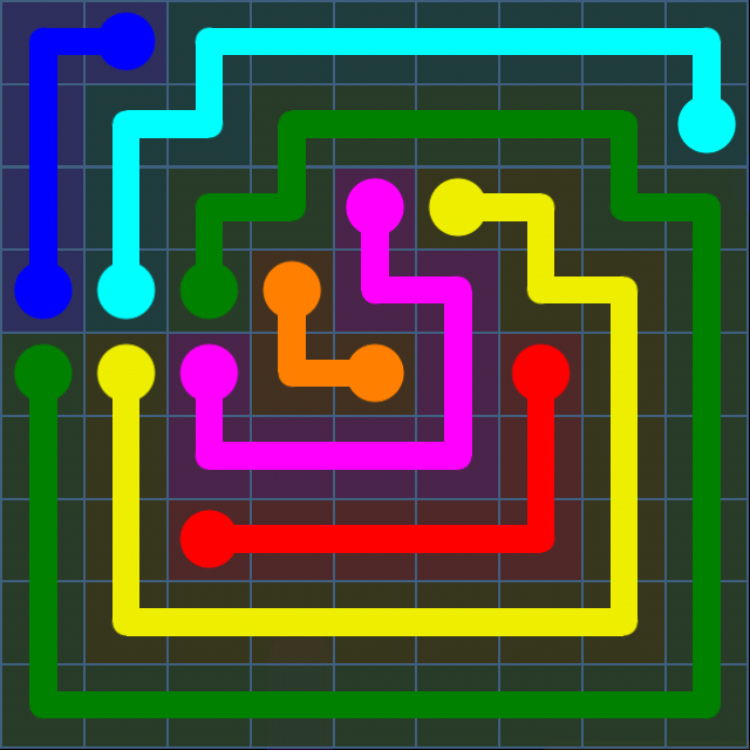 Flow Free - Bonus Pack - 9x9 Hard - Level 25 / Puzzle Game App Solutions / Give Me The Answer