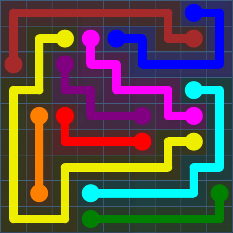 Flow Free - Bonus Pack - 9x9 Hard - Level 27 / Puzzle Game App Solutions / Give Me The Answer