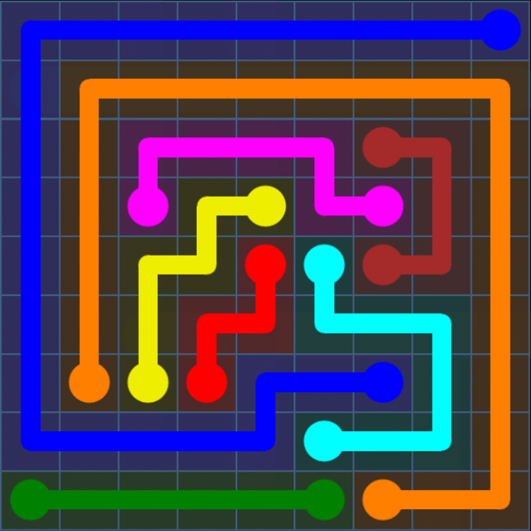Flow Free - Bonus Pack - 9x9 Hard - Level 9 / Puzzle Game App Solutions / Give Me The Answer