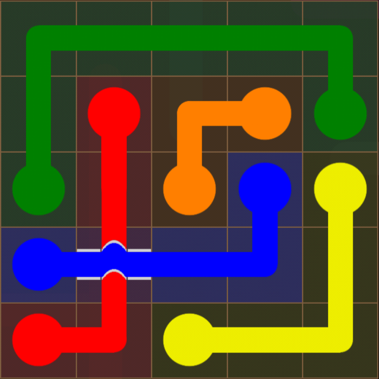 Flow Free - Bridges Sampler - 5x5 Easy - Level 25 / Puzzle Game App Solutions / Give Me The Answer