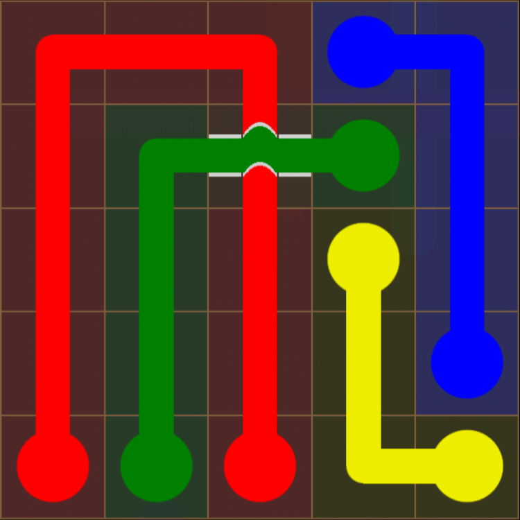 Flow Free - Bridges Sampler - 5x5 Easy - Level 6 / Puzzle Game App Solutions / Give Me The Answer