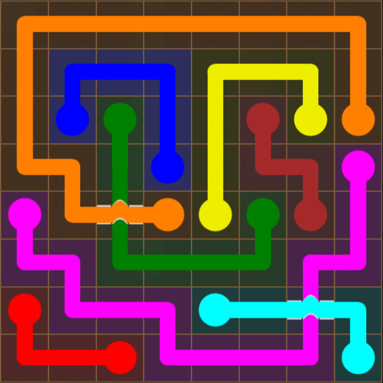 Flow Free - Bridges Sampler - 8x8 - Level 17 / Puzzle Game App Solutions / Give Me The Answer