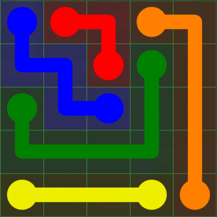 Flow Free - Green Pack - 5x5 Easy - Level 7 / Puzzle Game App Solutions / Give Me The Answer