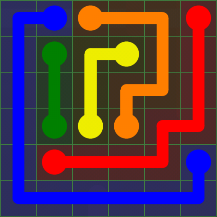 Flow Free - Green Pack - 6x6 - Level 10 / Puzzle Game App Solutions / Give Me The Answer