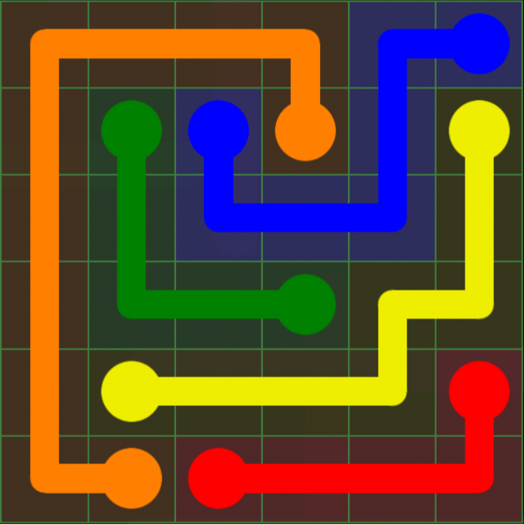 Flow Free - Green Pack - 6x6 Solutions - Puzzle Game App