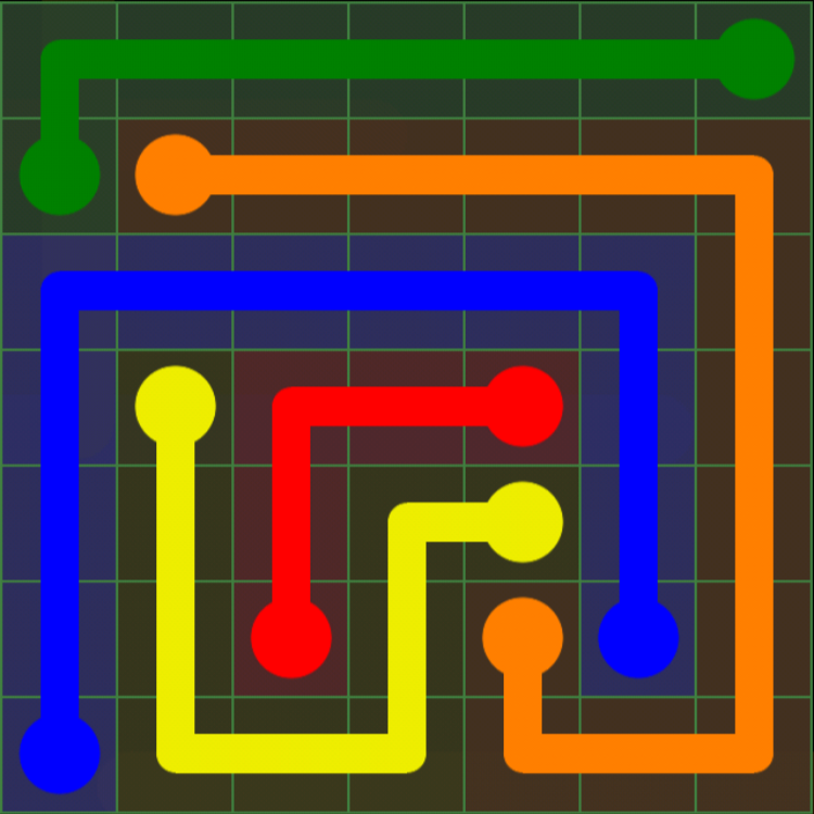 Flow Free - Green Pack - 7x7 Medium - Level 16 / Puzzle Game App Solutions / Give Me The Answer