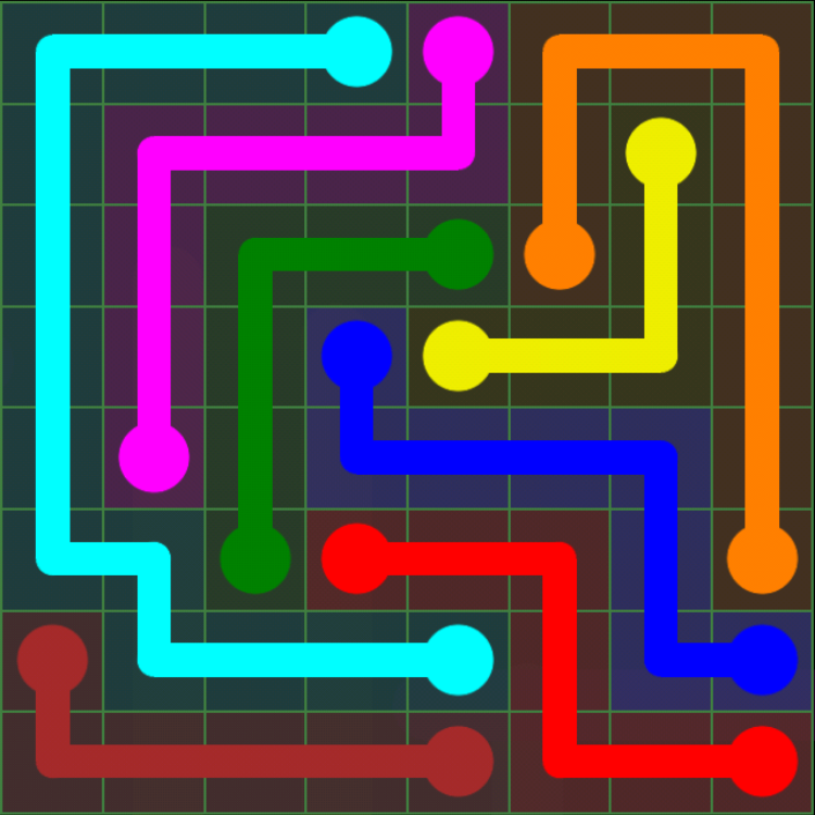 Flow Free - Green Pack - 8x8 - Level 11 / Puzzle Game App Solutions / Give Me The Answer