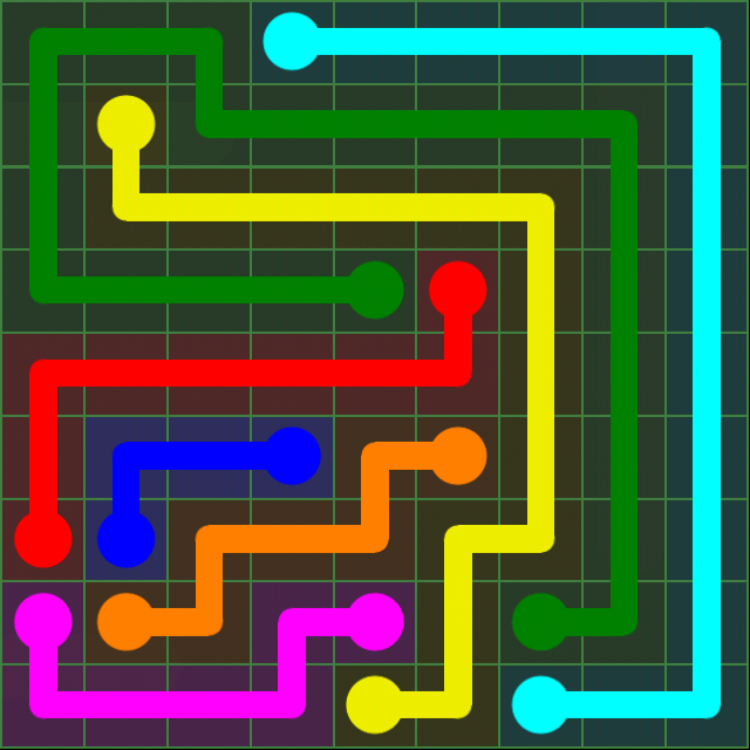 Flow Free - Green Pack - 9x9 Hard - Level 10 / Puzzle Game App Solutions / Give Me The Answer